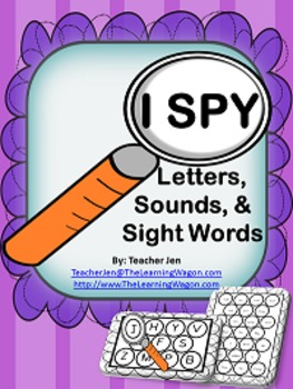 I SPY (Letters, Sounds, & Sight Words)