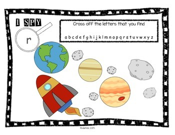 I SPY Letters (in Space) Center Activity