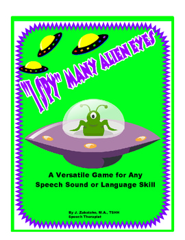 SPEECH THERAPY I SPY MANY ALIEN EYES!- An Open-Ended Game