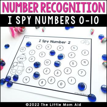 I SPY 0-10 Number Recognition Practice Worksheets