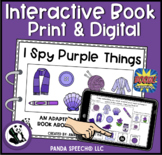 I SPY Purple Things Interactive Book: Print and Digital Versions Included
