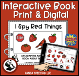 I SPY Red Things Interactive Book: Print and Digital Versions Included
