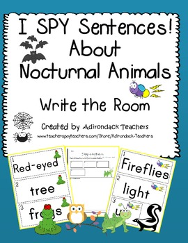 I SPY Sentences About Nocturnal Animals!