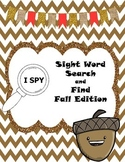 I SPY Sight Word Search and Find Fall Edition