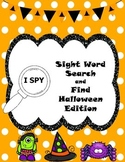 I SPY Sight Word Search and Find Halloween Edition