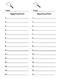 I SPY Sight Words recording sheet