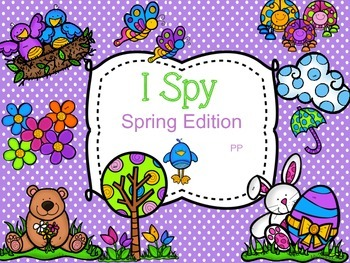 I SPY Spring Sight Word Game Boards