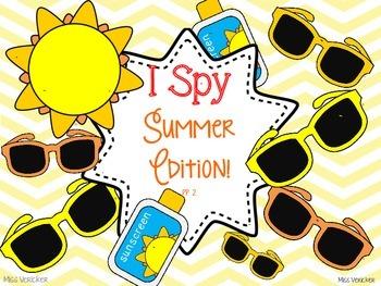 I SPY Summer Game Boards