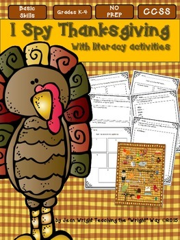 I SPY Thanksgiving with Literacy Activities