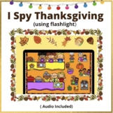 Thanksgiving Boom Cards™ I Spy Using Flashlight   Distance Learning