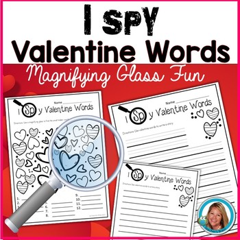 I SPY Valentine Words with a Magnifying Glass