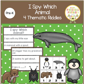 I SPY:  WHICH ANIMAL  4 THEMATIC RIDDLES