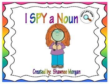 I SPY a Noun - Hand Lens Game