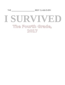 I SURVIVED end of the year activity