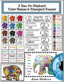 Color Activities I Saw An Elephant Games & Emergent Reader