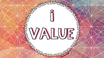 I Saw, I Value, I Wonder Classroom Posters