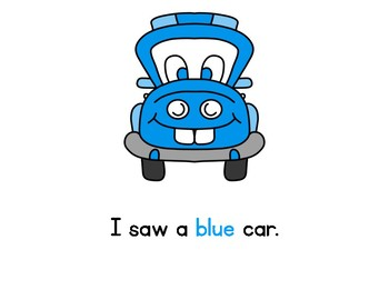 I Saw a Car: Shared Reading