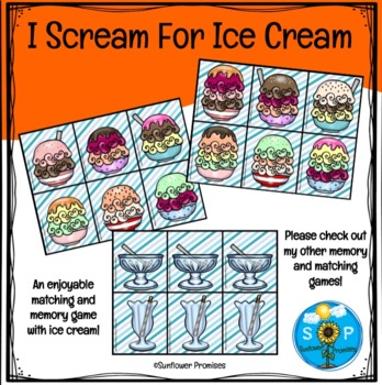I Scream For Ice Cream - Counting, Matching, Patterns and Sorting Game