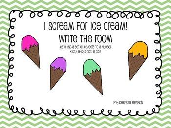 I Scream For Ice Cream Write The Room