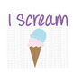 I Scream SVG Cut File