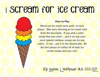 I Scream for Ice Cream Game
