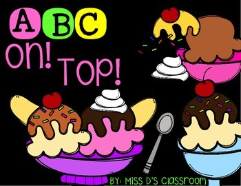 ABC On Top! A Letter Matching Activity! FREEBIE
