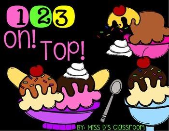 123 On Top! Numbers & Number Names! FREEBIE