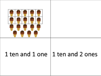 I Scream for Ice Cream - Tens and Ones Ten Frame Game