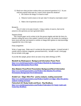 I Search Essay - A First Person Research Essay