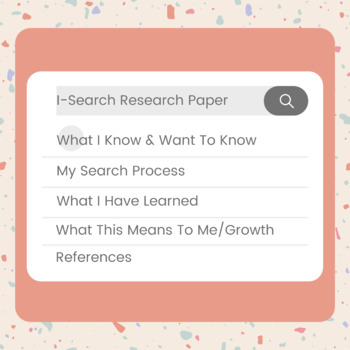 I-Search Research Paper Writing Instructions