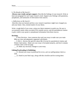I-Search Research Assignment (scoring guide/sample essay included)
