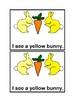 I See A Bunny Emergent Reader book in color for Preschool and Kindergarten