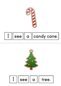 I See A Christmas Cookie Easy Reader Patterned Sentences for Beginning Readers