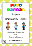 I See A Community Helper Easy Reader Patterned Sentences F