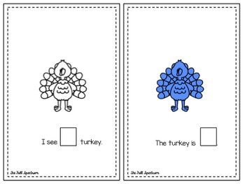 I See A Turkey (A Differentiated Reading and Counting Book 1-10)