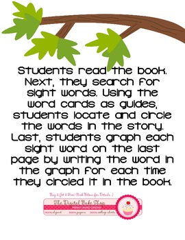 I See A Woodland emergent reader and sight word practice