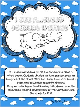 I See A...Cloud Journal Writing an alternative to the squiggle!