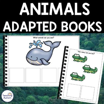 Autism Resources: Animals Adapted Sentence Building Book