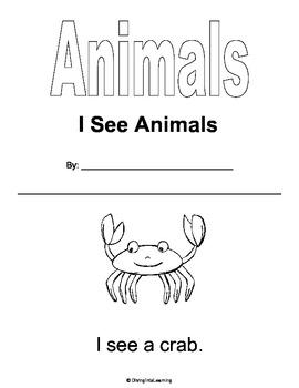 I See Animals Printable Book