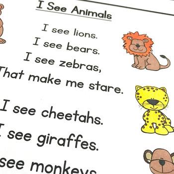 I See Animals - Sight Word Poem