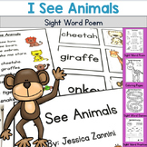 I See Animals - Sight Word Poem