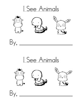Sight Word Emergent Reader: I See Animals (he, she)