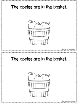 I See Apples - A positional word booklet