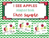 I See Apples - Core Vocabulary - Adapted Book