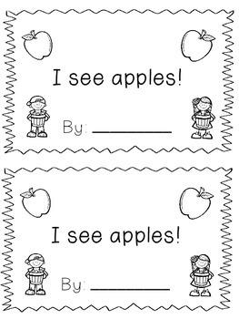 I See Apples -- Kindergarten Sight Word Reader