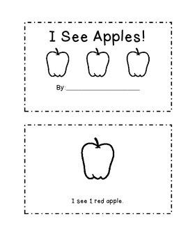 I See Apples Mini Book