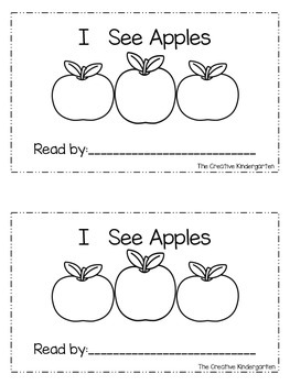 Apples Theme: Emergent Reader & Math mini-Pack {Common Core Aligned}