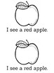 I See Apples Sight Word Reader