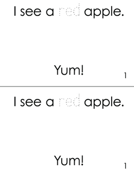 I See Apples - emergent reader with color words