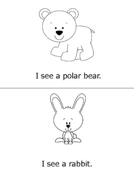 I See Arctic Animals- Printable Book